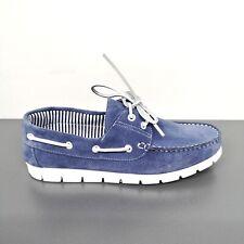 Mocassini Barca Camoscio Jeans Made in Italy Comode e Leggere Leather Shoes