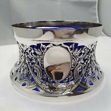 Potato Ring London 1892 Sterling Silber 925 punziert Kartoffel Schale