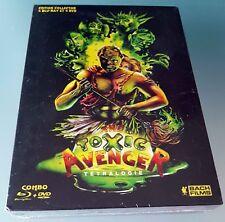 The Toxic Avengers Tetralogie Combo blu ray + dvd Troma in Lingua Francese
