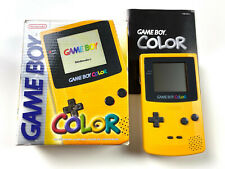 Nintendo GameBoy Color Konsole Handheld Gelb in OVP CiB #32