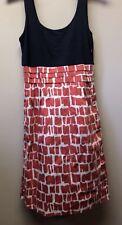 New Women's Sz 2 Boden Red White & Blue Half Jersey Sleeveless Cotton Sun Dress