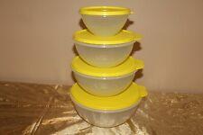 New Tupperware Set of 4 Beautiful Lemon Color Wonderlier Bowls