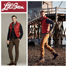 LL Bean Mens XXL 2XL Goose Down Vest Puffer Puffy Red Outerwear