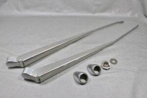 Jensen Interceptor OEM aluminum wiper arms, chrome covers NICE SHAPE