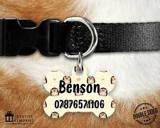 Personalised Pet ID Tag - ID Tag - Dog Tag - Dog Tags - Yellow Hedgehogs