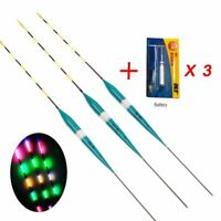 3 pcs Fishing Floats LED Electric Luminous Light Fishing Bobber With Battery