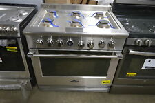 "Dcs Rgv2366L 36"" Stainless Professional Lp Gas Oven Range #28538 Mad"
