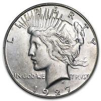 1927-S Peace Dollar AU - SKU#41054