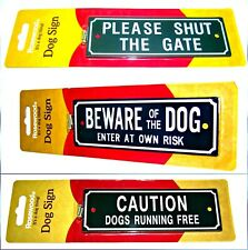 'BEWARE OF THE DOG'   and other dog warning signs  screws included