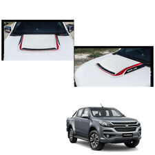 Bonnet Hood Scoop Cover White Red Trim 1 Pc Fit Chevrolet Holden Colorado 2017 +