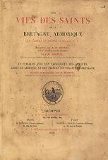 BRETAGNE-ALBERT LE GRAND-LES VIES DES SAINTS DE LA BRETAGNE-LIVRE ANCIEN XXème