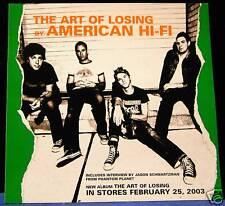 American Hi-Fi The Art Of Losing 3 track DJ PROMO CD