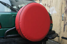 RED 4x4 SPARE WHEEL TYRE COVER 25 1/2 Inches
