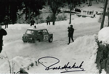 Paddy Hopkirk Hand Signed Mini-Cooper 12x8 Photo 4.