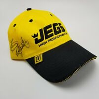 Jegs High Performance Signed Hat Cap Yellow Adult Strapback Used Y1
