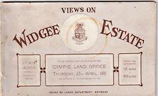 VINTAGE BOOKLET   VIEWS ON WIDGEE ESTATE GYMPIE  LAND OFFICE  SALE  1911