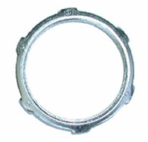 Bridgeport 106-S 2-Inch UL Steel Conduit Locknut, 50-Pack