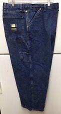 Mens Wrangler Carpenter Jeans 52 X 27 Blue Denum Stone Washed