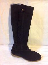 Esprit Black Knee High Suede Boots Size 37