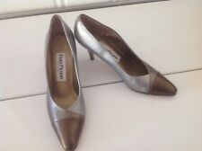 Evan-Picone Womens Pumps Size 8N, Made In Spain 3 Tone Matalic