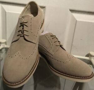 New Mens Tan Suede Leather 4 Eyelet Lace Up Casual Brogue Shoes Size 41EU/UK 7