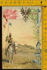 Cartolina militare coloniale Eritrea lk 211 squadrone cavalleria Indigeni