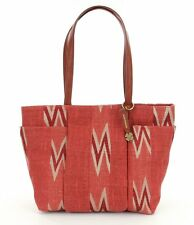 NEW LUCKY BRAND Bryn Linen & Cotton East/West Tote TERRACOTTA