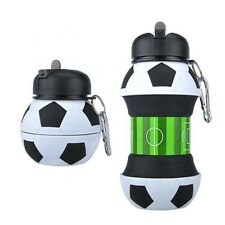 Silicone Water Bottle - Soccer - Foldable Outdoor/Indoor - 500ml