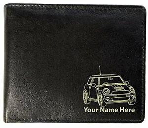 Mini Cooper S Design, Personalised Mens Leather Wallet