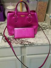 Kate Spade baha rose metallic purse with matching wallet