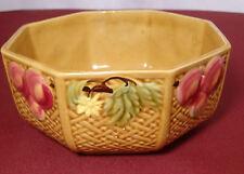 Zell Majolica Fruit & Flowers Basketweave Master Berry Bowl