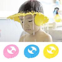 Baby Kids Shampoo Bathing Shower Cap Visor Wash Hair Shield Hat with Ear Cover