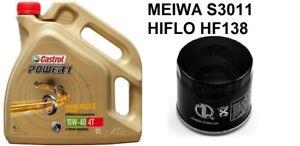 Castrol Power 1 4T 10W40 4 Litros + filtro meiwa S3011=HF138   envío 24h