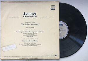 LUIGI BOCCHERINI Concerto Per Il Violoncello Obligato ARCHIVE ARC 3057 EX/VG+
