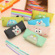 Cute Cartoon Zipper Pen Pencil Case Bag Coin Pouch Makeup Purse Cosmetic Holder