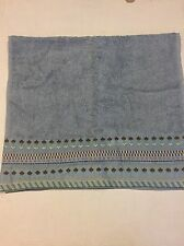 DKNY Hand Towel Sky Blue Embroidered Detail New Cotton USA Soft Dorm Camp
