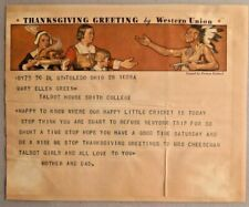 Vintage 1935 Western Union Thanksgiving Greeting Telegrams -- 2490