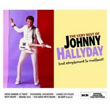 JOHNNY HALLYDAY - THE VERY BEST OF 2 CD  FRENCH POP / ROCK & ROLL HITS  NEU