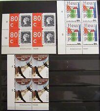 Ned. - Blokken van 4 Gedicht, Mesdag, Blauwe Mauritius 1995 postfris Artikelnr.