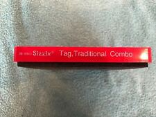 Sizzix Original Large Red  Tag, Traditional Combo  Scrapbooking Die 38-0943
