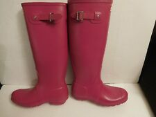 B-150 Hunter 'Original Tall' Rain Boot Fushia Matte  (Women)  Sz 8 $150.00