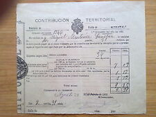 DOCUMENTO CONTRIBUCION MUNICIPAL MURCIA.CARAVACA,MORATALLA,1903