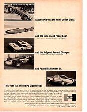 1966 BARRACUDA HURST HEMI-UNDER-GLASS / HURST HAIRY OLDS  ~  ORIGINAL PRINT AD