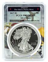 2017 W Silver Eagle Proof  PCGS PR70 DCAM  - West Point Frame
