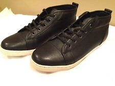Apt 9 New Solid Black Leather Tennis  Size 9.5M