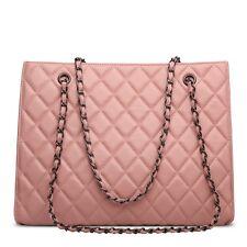 Korea Lambskin Handbag Genuine Sheepskin Leather Women Shoulder Bag Purse pink