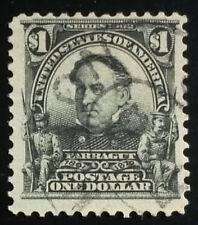 U.S. Scott # 311 $1 black used, F