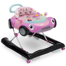 Baby Activity Walker Girls Race Car Toys Music Adjustable Learning Pink New