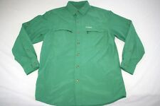 LL Bean Tropicwear Hiking Shirt Men M Green NEW