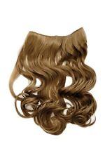 Hair Piece Clip-In Extension half Wig Width Hair Extension Curly Dark Blonde